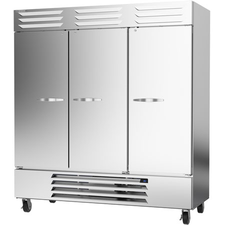 "Beverage-Air 72 cu. ft. 3-Door Bottom Mount Reach-In Freezer 75""W"