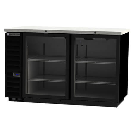 "Beverage-Air Stainless Steel Top Back Bar Cooler with Glass Doors 59""W"