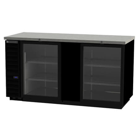 "Beverage-Air Stainless Steel Top Back Bar Cooler with Glass Doors 69""W"