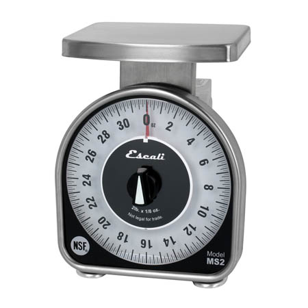 Escali MS-Series Mechanical Dial 2 lb. x 0.125 oz. Scale