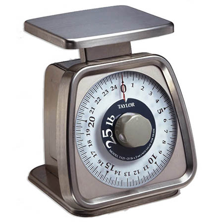 Taylor 25 lb. x 2 oz. Mechanical Portion Control Scale with Rotating Dial