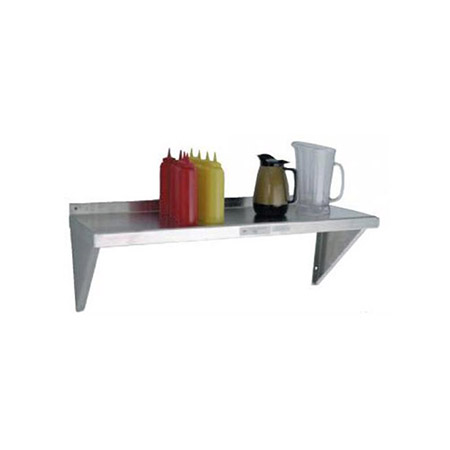 "Aluminum Wall Shelf 12""D x 36""W"