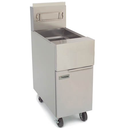 "Frymaster 50 lb. Open Pot Liquid Propane Gas Fryer with Casters 15""W"