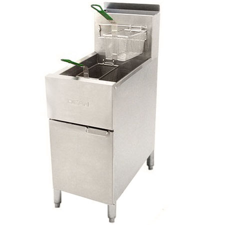 "Dean 43 lb. LP Gas Fryer with Stainless Steel Pot 15-1/2""W"