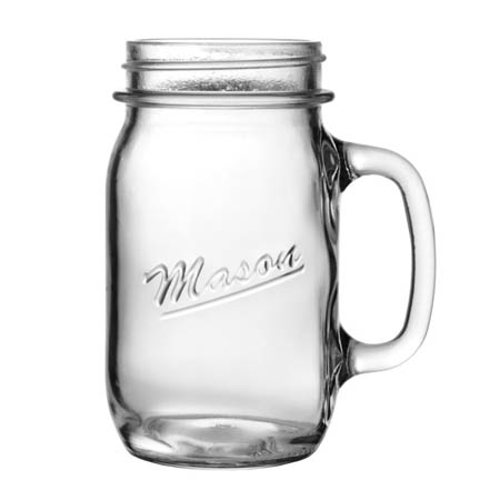Anchor Hocking 16 oz. Mason Drinking Jar with Handle