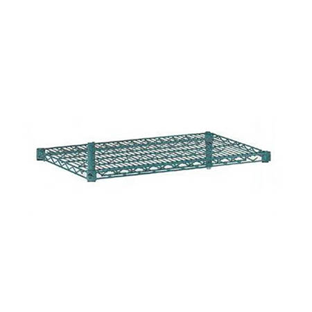 "FSEQ Heavy Duty Green Epoxy-Coated Wire Shelving Section 24"" x 24"""