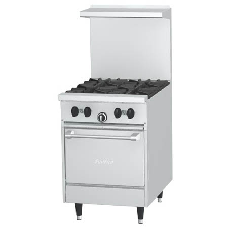 "Garland Sunfire 4-Burner Space Saver Natural Gas Range 24""W"