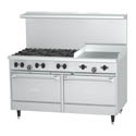Garland Sunfire 6-Burner LP Gas Range with 24\x22 Griddle 60\x22W