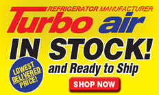 Turbo Air in Stock