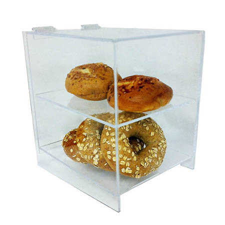 "2-Tier Clear Acrylic Display Case 12""H x 8-1/2""w x 11""D"