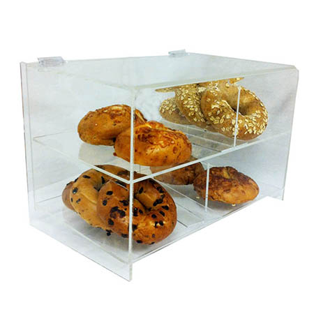 "2-Tier Clear Acrylic Display Case 12""H x 16""W x 11""D"