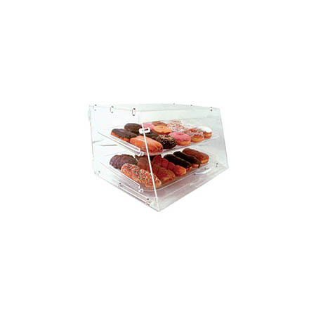 "3-Tray Clear Acrylic Display Case with Straight Front 17""H x 11-1/2""W x 19""D"