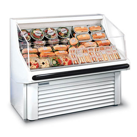 "Hussmann White Refrigerated Horizontal Open Merchandiser 36""W"