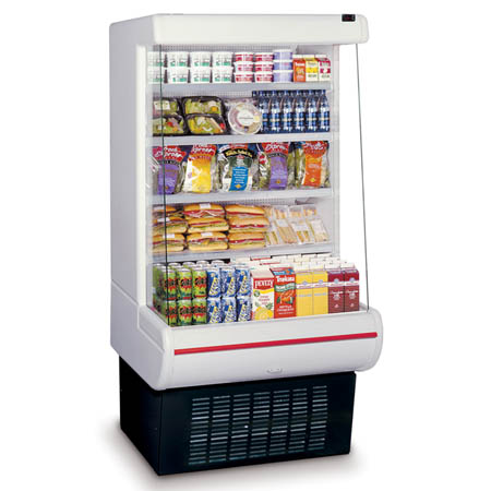 "Hussmann White Refrigerated Vertical Merchandiser 39""W"