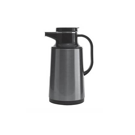 1-Liter Stainless Steel Insulated Vacuum Beverage Server with Glass Liner