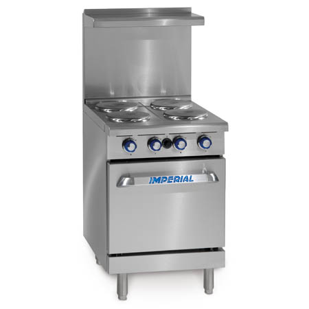 "Imperial 4-Burner Space Saver 208V Electric Range 24""W"