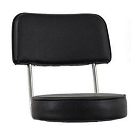 Black 2-Piece Bar Stool Seat for Contemporary Style Bar Stool