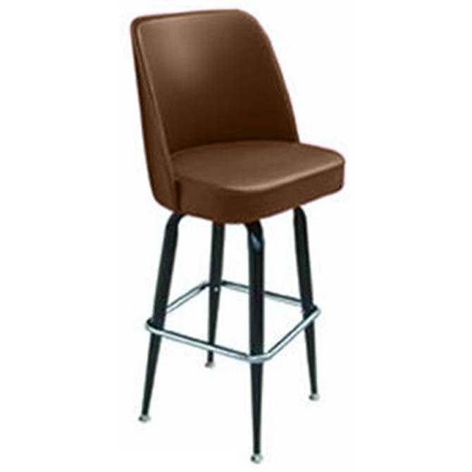 16 Inch D X 17 Inch W X 44 Inch H Bar Stool With A Black