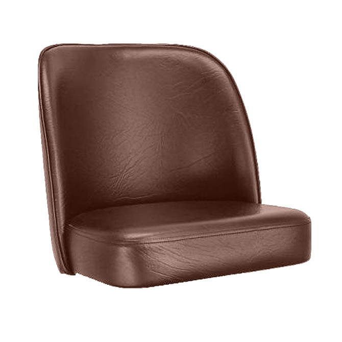 Brown Bar Stool Seat For Bucket Style Bar Stool