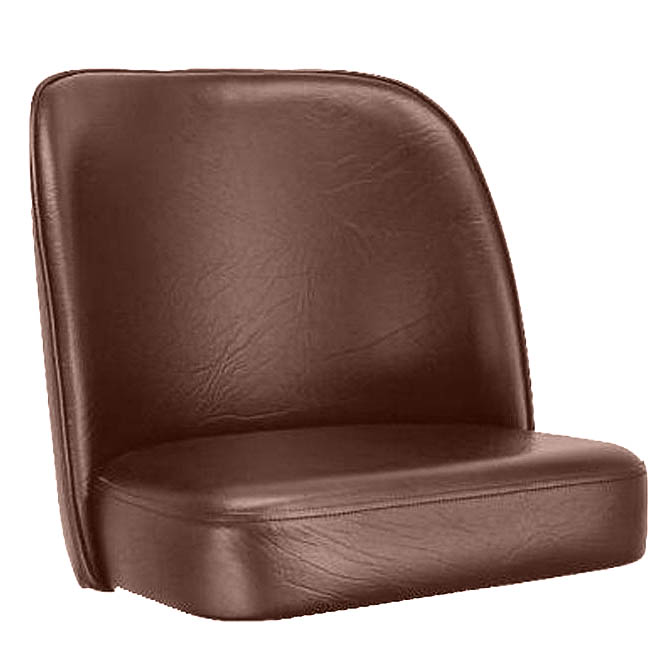 Brown Bar Stool Seat For Club Style Swivel Bar Stool
