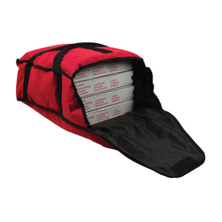 "San Jamar Red Pizza Delivery Bag 17""L x 16-1/2""W x 5""H"