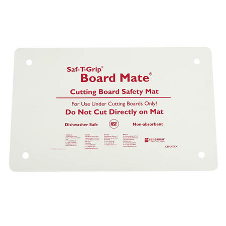 "San Jamar Saf-T-Grip Board-Mate Cutting Board Safety Mat 13"" x 18"""