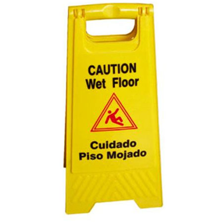 "Economy Double-Sided Wet Floor Sign 24"" x 12"""