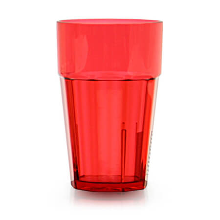 Thunder Group Diamond 14 oz. Red Poly Tumbler Glass