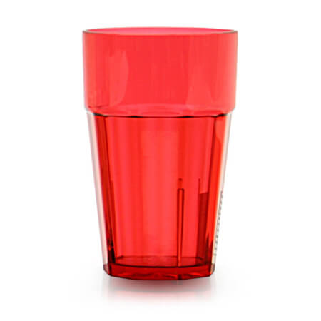 Thunder Group Diamond 16 oz. Red Poly Tumbler Glass