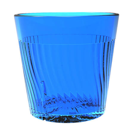 Thunder Group Belize 8 oz. Blue Poly Tumbler Glass