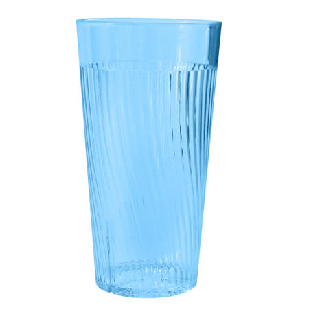 Thunder Group Belize 14 oz. Blue Poly Tumbler Glass