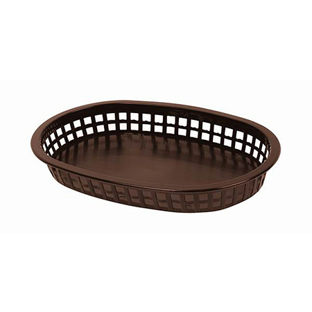 "Brown Plastic Oblong Basket 10-3/4"" x 7"" x 1-1/2"""