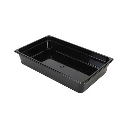 "Thunder Group Full Size Black Food Pan 4"" Deep"