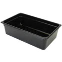 Thunder Group Full Size Black Food Pan 6\x22 Deep