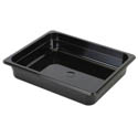 Thunder Group 1/2-Size Black Food Pan 2-1/2\x22 Deep
