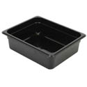 Thunder Group 1/2-Size Black Food Pan 4\x22 Deep