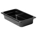 Thunder Group 1/3-Size Black Food Pan 2-1/2\x22 Deep