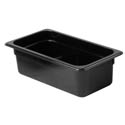 Thunder Group 1/3-Size Black Food Pan 4\x22 Deep