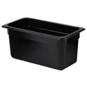 Thunder Group 1/3-Size Black Food Pan 6\x22 Deep