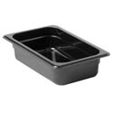 Thunder Group 1/4-Size Black Food Pan 2-1/2\x22 Deep
