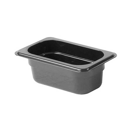 "Thunder Group 1/9-Size Black Food Pan 2-1/2"" Deep"