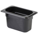 Thunder Group 1/9-Size Black Food Pan 4\x22 Deep