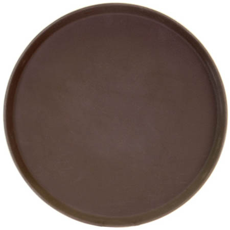 "Thunder Group Brown Non-Skid Serving Tray 11"" Diameter"