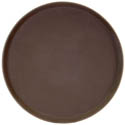 Thunder Group Brown Non-Skid Serving Tray 11\x22 Diameter