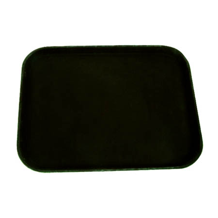 "Thunder Group Black Non-Skid Serving Tray 14"" x 18"""