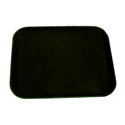 Thunder Group Black Non-Skid Serving Tray 14\x22 x 18\x22