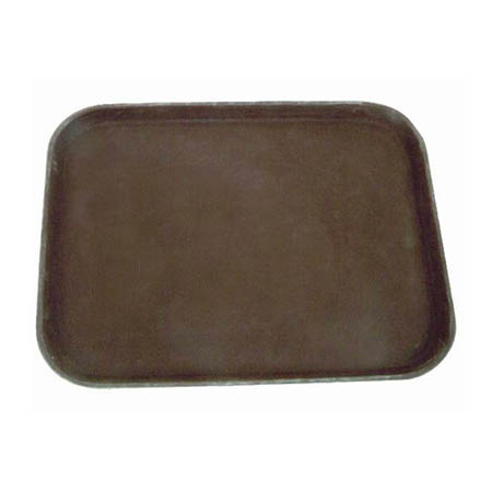 "Thunder Group Brown Non-Skid Serving Tray 14"" x 18"""