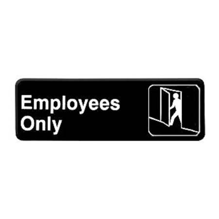 "Thunder Group Employees Only Wall Sign 3"" x 9"""