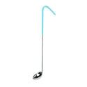 Thunder Group 0.5 oz. 1-Piece Stainless Steel Ladle with Teal Handle