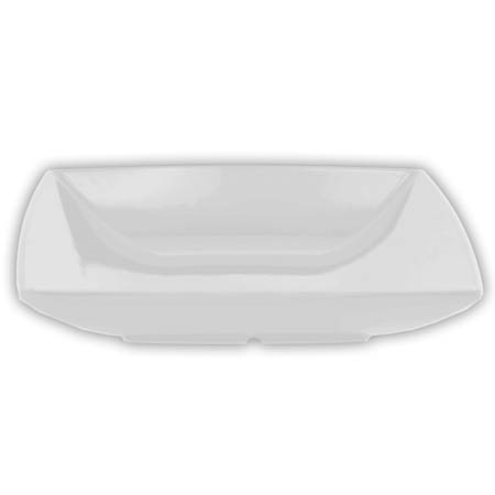 "LaSalle Manor Prestige 28 oz.  Classic White 8-1/2"" Square Melamine Salad Bowl"